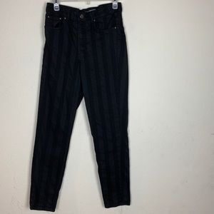 Zara- Black & Gray Striped ST Leg Pants size 8